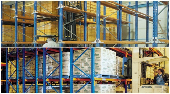 High Density Pallet Storage Racks: Comparing Pushback & Drive-In