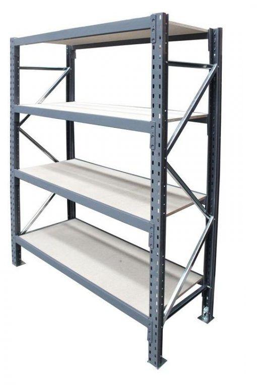 Steel Shelving - Singlebay with 4 beam levels