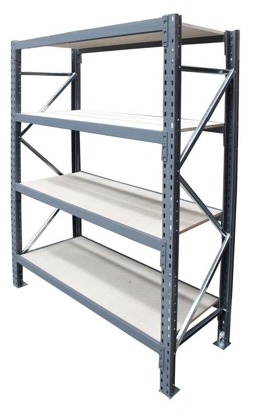 Steel Shelving - Singlebay with 4 beam levels