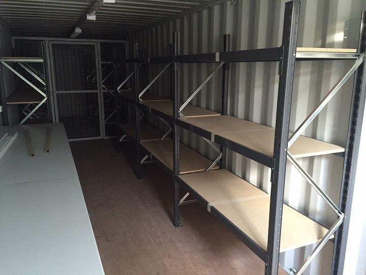 Steel Shelving Bays in Container